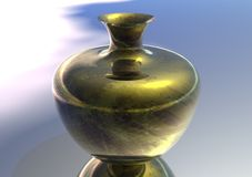 3D Gold Vase Royalty Free Stock Photography