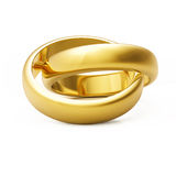 3d gold wedding ring Stock Photos