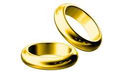 3d gold wedding ring Royalty Free Stock Photo