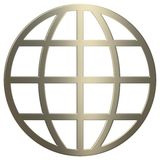 3d Gold WWW Symbol Royalty Free Stock Photo