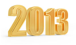 3d golden 2013 number Stock Image