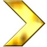 3D Golden Arrow Stock Photography