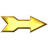 3D Golden Arrow Royalty Free Stock Photos