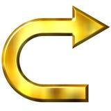 3D Golden Arrow Royalty Free Stock Photo