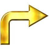 3D Golden Arrow Royalty Free Stock Image
