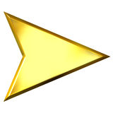 3D Golden Arrow Stock Photos