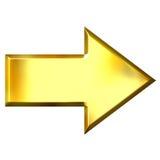3D Golden Arrow Stock Image