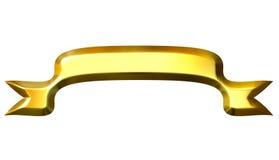 3D Golden Banner Stock Image