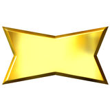 3D Golden Banner Royalty Free Stock Image
