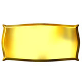 3D Golden Banner Royalty Free Stock Photo