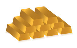 3d golden bars. Over white background Royalty Free Stock Photos