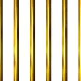 3D Golden Bars. Isolated in white Royalty Free Stock Image