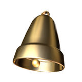 3D golden bell. On white background Royalty Free Stock Photography