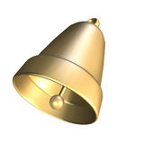 3D golden bell Royalty Free Stock Images
