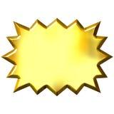 3D Golden Burst. Isolated in white Stock Photos