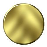3D Golden Button Royalty Free Stock Photo