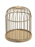 3d golden cage Stock Image