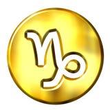 3D Golden Capricorn Zodiac Sign Stock Images