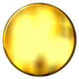 3D Golden Circular Button Stock Images