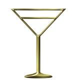 3D Golden Cocktail Glass Royalty Free Stock Photos