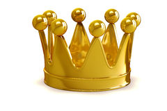 3d golden crown. On white background Stock Images