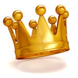 3d golden crown. On white background Royalty Free Stock Photos