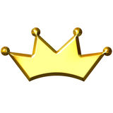3D Golden Crown Royalty Free Stock Images