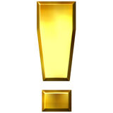 3D Golden Exclamation Mark Stock Photo