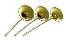 3D golden fanfare Royalty Free Stock Photo