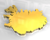 3d golden flag of Iceland Royalty Free Stock Photos