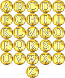 3D Golden Framed Alphabet Stock Photo