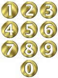 3D Golden Framed Numbers Royalty Free Stock Images