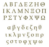 3D Golden Greek Alphabet Stock Photos