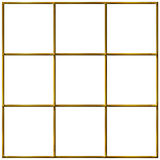 3D Golden Grid Royalty Free Stock Photography