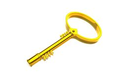 3d golden key with year Royalty Free Stock Images