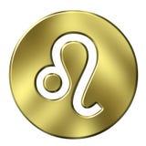 3D Golden Leo Stock Images