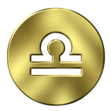 3D Golden Libra Stock Photography