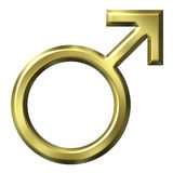 3D Golden Male Symbol Royalty Free Stock Image