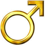 3D Golden Male Symbol Royalty Free Stock Photography
