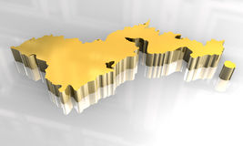 3d golden map of american samoa Stock Photos