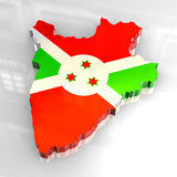 3d golden map of burundi Royalty Free Stock Photos