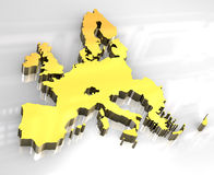 3d golden map of European union Stock Photography