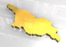 3d golden map of Georgia Stock Image