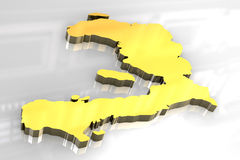 3d golden map of Haiti Royalty Free Stock Photos