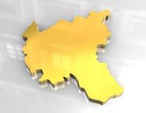 3d golden map of Hamburg Royalty Free Stock Photo