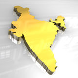 3d golden map of India Stock Images