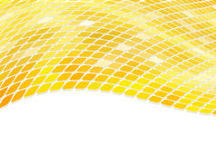 3D golden mosaic. Wave background Royalty Free Stock Image