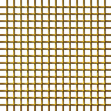 3D Golden Net. Isolated in white Stock Image