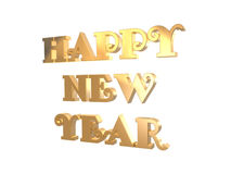 3D Golden New Year Stock Images