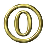 3D Golden Number 0 Royalty Free Stock Images